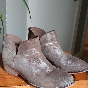 Seychelles Tan Leather Ankle Booties Boots 6.5